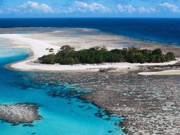 Эти рифы образуют 71 коралловый остров